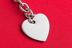 Figura del cuore e della catena fotografia stock libera da diritti
