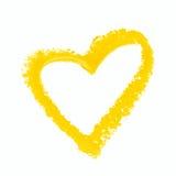 Figura del cuore isolata Fotografia Stock