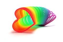 Figura del cuore Slinky Fotografie Stock
