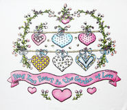 Figura del cuore sull'albero Fotografia Stock