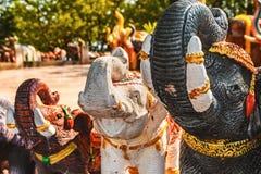 Figura del elefante asiático de una piedra fotos de archivo libres de regalías
