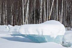 Figura del ghiaccio Fotografie Stock Libere da Diritti