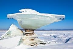 Figura del ghiaccio Fotografia Stock