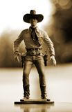 Figura del giocattolo del cowboy fotografia stock libera da diritti