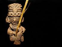 Figura del guerrero del maya Fotos de archivo
