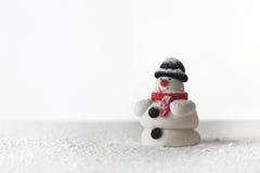 Figura del muñeco de nieve Imágenes de archivo libres de regalías