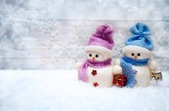 Figura del muñeco de nieve para la Navidad Fotografía de archivo