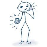 Figura del palillo con el teléfono libre illustration
