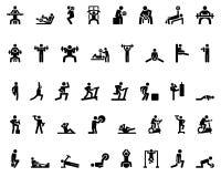 Figura del palillo del deporte Imágenes de archivo libres de regalías