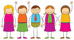 Figura del palillo - gente stock de ilustración