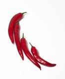 Figura del peperoncino rosso con i peperoni Fotografia Stock