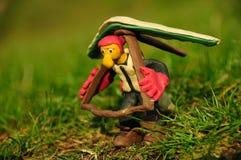 Figura del pilota del hangglider di Placticine fotografie stock libere da diritti