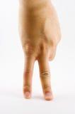Figura del ser humano de la mano Imagenes de archivo