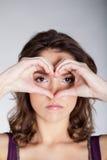 Figura del suo cuore Fotografie Stock Libere da Diritti