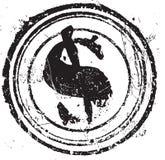 Figura del timbro di gomma con il dollaro di simbolo Immagine Stock