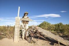 Figura del vaquero en el pueblo fantasma de Giles Imagen de archivo libre de regalías