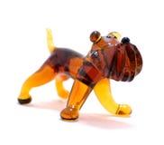 Figura del vidrio del perro Imagen de archivo libre de regalías