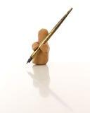 Figura dell'argilla di modellistica con un punto Immagini Stock