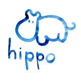 Figura dell'ippopotamo adattata per la percezione del bambino Fotografia Stock