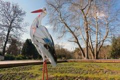 Figura della cicogna, Varna, Bulgaria Immagini Stock Libere da Diritti