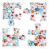 Figura della parte del puzzle con struttura delle icone di media royalty illustrazione gratis