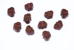 Figura della parte superiore di cioccolato Fotografia Stock