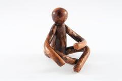 Figura della persona di seduta Fotografia Stock