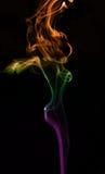 Figura della signora dalla riga del fumo Fotografie Stock Libere da Diritti