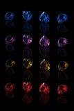Figura delle collezioni delle pietre preziose di cuore illustrazione di stock