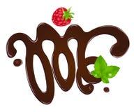 Figura derretida do chocolate Fotos de Stock