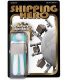 Figura di azione dell'eroe di trasporto uomo di consegna dello spedizioniere marittimo Immagine Stock Libera da Diritti