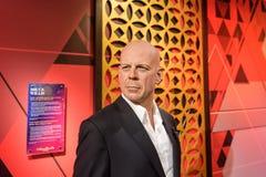 Figura di Bruce Willis al museo della cera di signora Tussauds a Costantinopoli fotografia stock