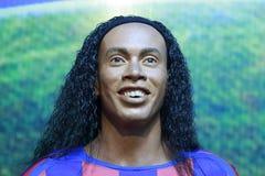 Figura di cera dei ronaldinho brasiliani del giocatore di football americano Fotografie Stock
