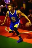 Figura di cera del curry di Stephen del wardell del giocatore di Nba ai tussads Hong Kong di signora fotografie stock