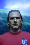 Figura di cera di Beckham Fotografia Stock Libera da Diritti
