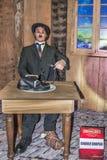 Figura di cera di Charlie Chaplin al museo della cera Immagine Stock