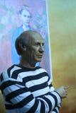 Figura di cera di Picasso immagini stock libere da diritti