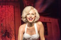 Figura di cera di Marilyn Monroe al museo di signora Tussauds a Costantinopoli immagini stock libere da diritti
