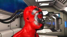 Figura di clonazione di umanoide illustrazione vettoriale