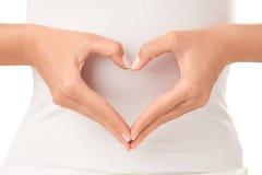 Figura di cuore Fotografie Stock Libere da Diritti
