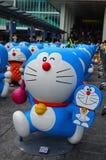 Figura di Doraemon con la bugia 800 Fotografia Stock Libera da Diritti