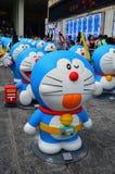 Figura di Doraemon con la fascia di tempo Fotografia Stock Libera da Diritti