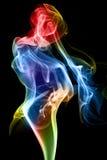Figura di fumo Fotografia Stock Libera da Diritti