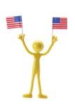 Figura di gomma con le bandiere americane Immagine Stock Libera da Diritti