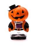 Figura di Halloween con la testa della zucca Immagini Stock