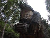 Figura di legno in legno fotografia stock libera da diritti