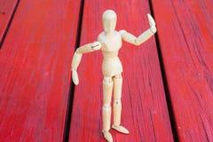 Figura di legno Fotografie Stock