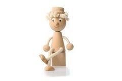 Figura di legno del giocattolo Fotografia Stock