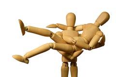 Figura di legno modello Fotografia Stock