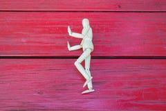 Figura di legno showhand di arresto Fotografia Stock Libera da Diritti